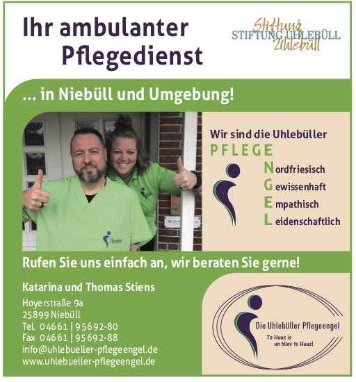 Uhlebüller Pflegeengel Niebüll - ambulanter Pflegedienst